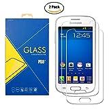 [2 Pack] Protector Cristal Vidrio Templado Samsung Galaxy Trend Lite / Fresh ( GT-S7390 / 7390 ) – Pantalla Antigolpes y Resistente al Rayado
