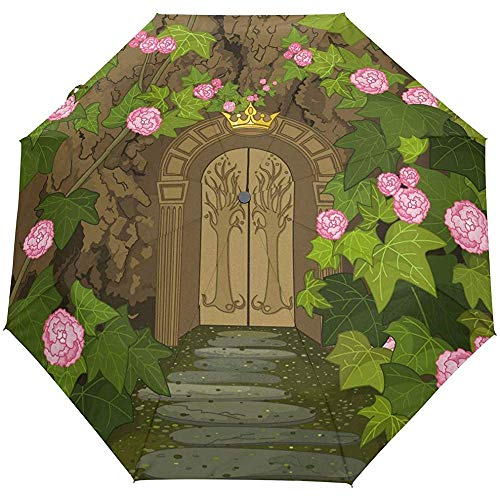 Auto Open Close Umbrella Gates of Magic Elves Castle 3 Plieg