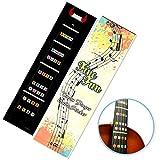 Guía de dedos para violín FineFun, pegatina para diapasón, guía de trastes, para tamaños 4/4, 3/4, 1/2, 1/4, 1/8, 1/10 (4/4 negro)