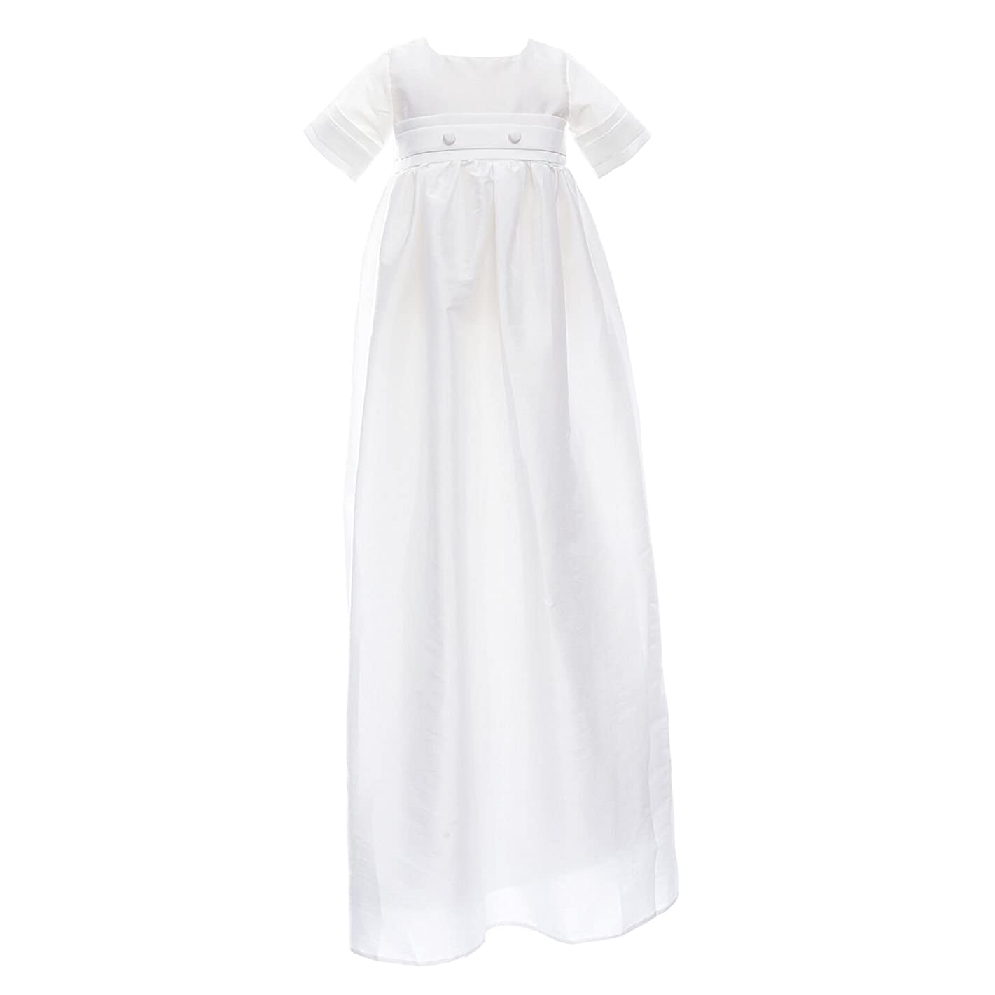 Castle Fairy 2018 Baby Boys Girls Christening Long Gown Baptism Formal Hollow Communion Dresses With Hat