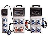® rosi - quadro elettrico da cantiere portatile con 3 prese industriali ip67 2p+t con magnetotermico differenziale acs ip55 industriale 220/250 v monofase con certificazione