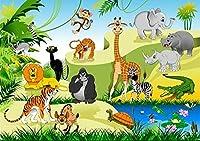 2000ピースの大人のパズル、大きなパズルの漫画の動物、DIYパズルのパーソナライズされたギフト、レジャー、瞑想、趣味に最適