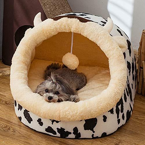 Casa de Cachorros Cerrada Suministros para Mascotas de Gato cálido de Invierno Desmontable