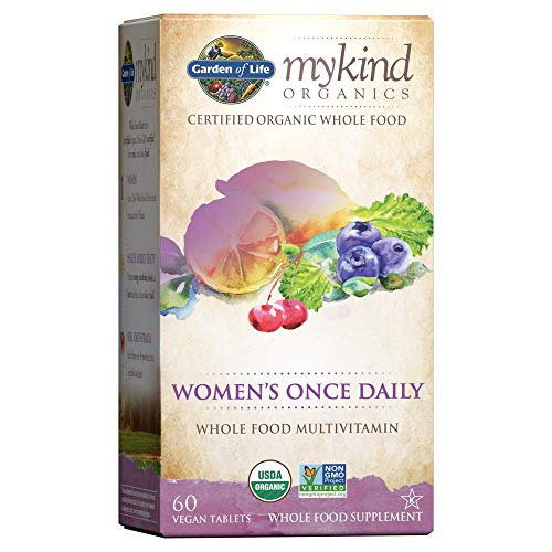 Garden of Life Multivitamin for Women mykind Organics Women's Once Daily Multi Tablets, Biotin, Fruit, 60 Count