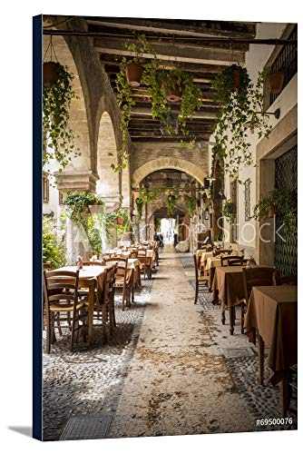 Verona, Italy - Restaurant - Photography A-91559 (16x24 Gallery Wrapped Stretched Canvas)