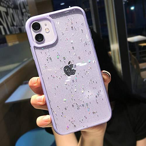 ZTOFERA Hülle für iPhone 11, Funkeln Durchscheinend Design Liquid Silikon Hülle, Weich Flexibel Anti-Kratzer Schutzhülle für iPhone 11 (6.1