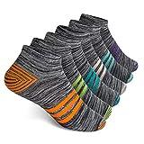 Vkele 6 Paar Sneaker Socken | Baumwolle classic | Orange Weiß Grün Lila Hellblau Lichtblau | Größe: 39 40 41 42