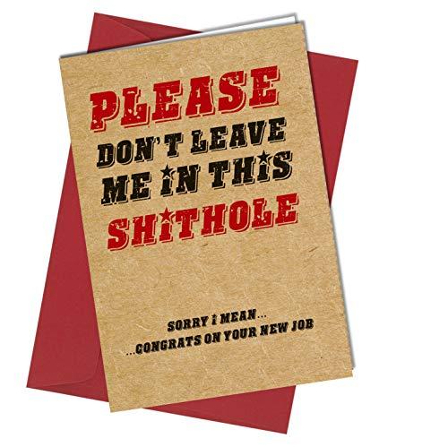 #1023 Divertente biglietto di auguri per collega, regalo per il nuovo lavoro, congratulazioni,...