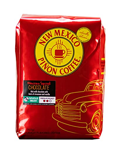 New Mexico Piñon Coffee Naturally Flavored Coffee (Mexican Spiced Chocolate Whole Bean, 2 pound)