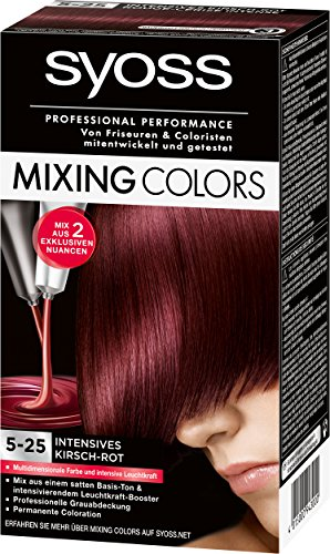 Syoss Mixing Colors 5-25 Intensives Kirsch-Rot, 3er Pack (3 x 135 ml)