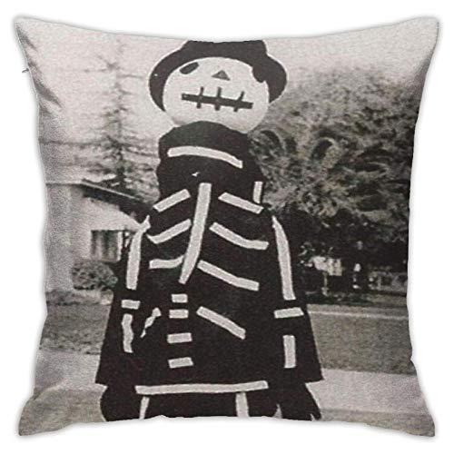 WH-CLA Pillowcase Tim Burton \U0026 Acirc; \U0026 Euro; S 1967 Disfraz De Halloween Sof De Moda Impreso Dormitorio Regalo Funda De Almohada Dormitorio 45X45 Cm Funda De Cojn Sof Cuadr