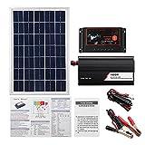 uerdand 1000W Panel Solar 50A Sistema de Controlador de Carga Panel Solar Kit de inversor Solar Generación de energía Completa Maleta de Panel Solar