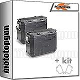 kappa maletas laterales kfr4837bpack2 k?force 37 lt + portamaletas laterales monokey cam side compatible con yamaha xt 1200 ze super tenere 2020 20