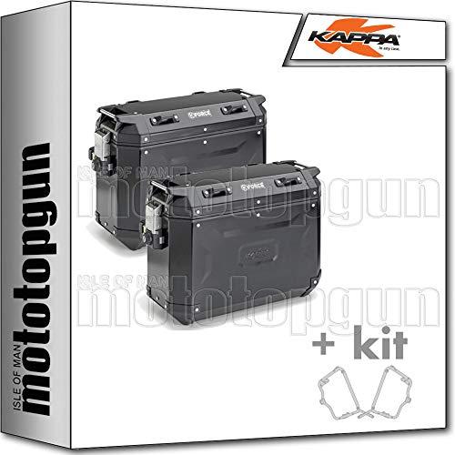 kappa maletas laterales kfr4837bpack2 k?force 37 lt + portamaletas laterales monokey cam side compatible con ducati multistrada 950 2017 17