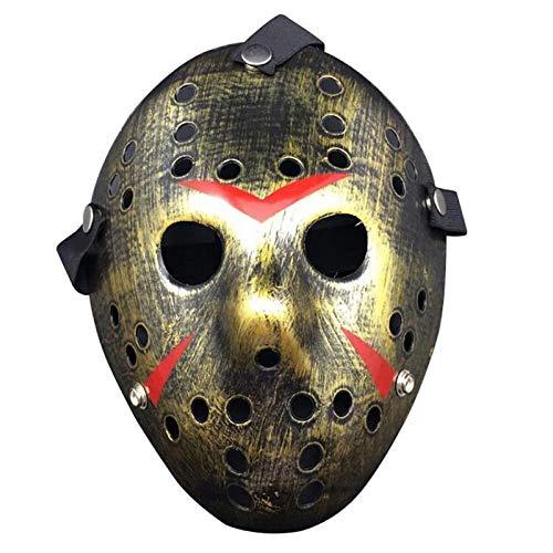 XWYZY Mscara de Halloween Mscara de Hockey Cosplay Disfraz de Halloween Asesino de Horror Mscara C
