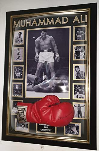 www.signedmemorabiliashop.co.uk Muhammad Ali Boxhandschuh, gerahmt