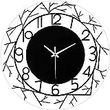 KS Relojes Relojes de Pared Sala de Estar Acrílico Gráficos de Pared creativos Viento Simple Relojes de Moda Dormitorio Decorativo Tablas de Pared silenciosas Negro