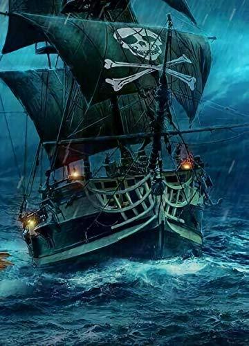 Rompecabezas 1000 Piezas Adultos De Madera Niño Puzzle-Barco Pirata Navegando-Juego Casual De Arte DIY Juguetes Regalo Interesantes Amigo Familiar Adecuado