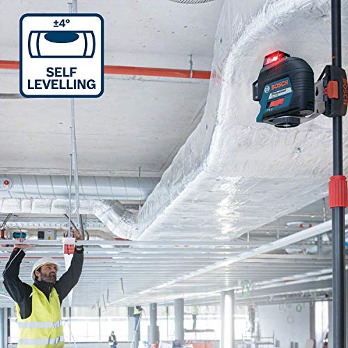 Bosch Professional Linienlaser GLL 3-80 (roter Laser, max. Arbeitsbereich: 30 m, 4x AA Batterie, im Handwerkerkoffer) - 4