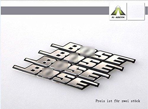 D904 2 stk. Lautsprecher auto aufkleber 3D Emblem Badge Schriftzug car Sticker emblema Abziehbild