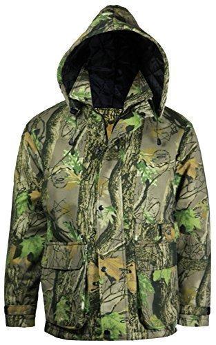 Stormkloth - Manteau Imperméable Motif Camouflage à Multiples Poches pour Homme - Vert, S
