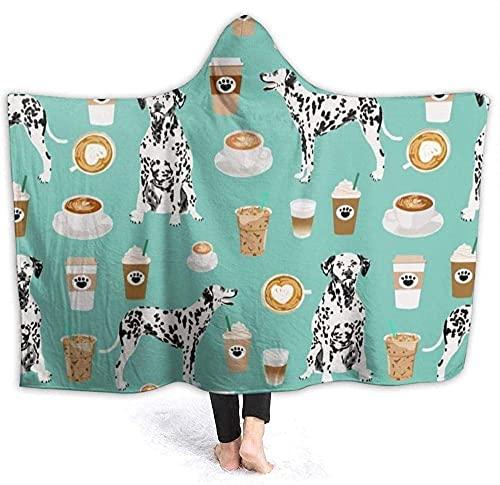 Mantas para cama dálmatas, lindo café menta mejor perro dálmata, mantas suaves de felpa para sofá y cama, adecuadas para todas las estaciones, 156 x 150 cm