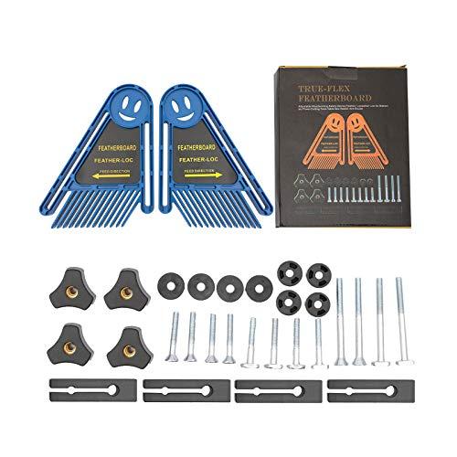 Sxiocta Versátil juego de tablero de plumas de molino de doble extremo, guía de sierra circular, para enrutador local de plumas de escritorio, herramienta de sierra de mesa de bricolaje