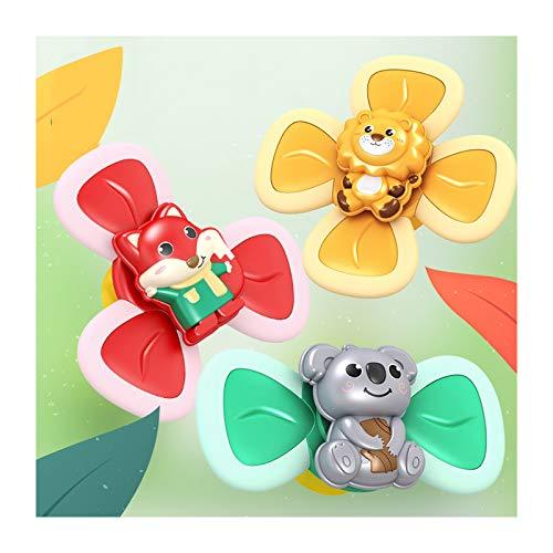 QTT Juguete para Bebé, Juguete con Ventosa, Juguete Educativo Creativo para Bebés, Juguete con Ventosa, Juguete Superior Tricolor, Regalo para Niños, Niñas, Niños