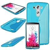 ebestStar - Funda Compatible con LG G3 D855 Carcasa Gel Silicona Gel TPU Motivo S-línea, S-Line Case Cover, Azul [Aparato: 145.5 x 74.6 x 9.1mm, 5.5'']