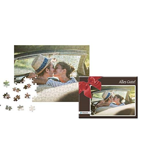 Fotopuzzle 100 bis 2000 Teile - Gestaltung jetzt direkt Hier - Das Puzzle mit eigenem Foto und individueller Geschenk-Schachtel (200 Teile, Schachtel: Rote Schleife)
