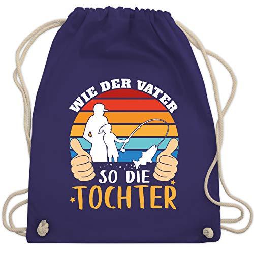 Shirtracer Vatertagsgeschenk - Wie der Vater so die Tochter - weiß - Unisize - Lila - Wie der Vater so die Tochter - WM110 - Turnbeutel und Stoffbeutel aus Baumwolle