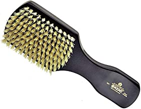 Kent OE1 Finest Men's Rectangular Club Ebony Wood Pure White Bristle Gentleman's Hair Brush (OE1)