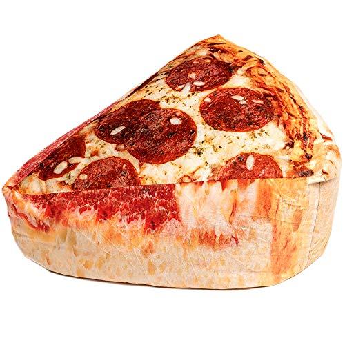 Wow! Works Pepperoni Pizza Bean Bag Comfy Beanbag Chair/Lounger for Boys,Girls,Teens, Medium-Sized