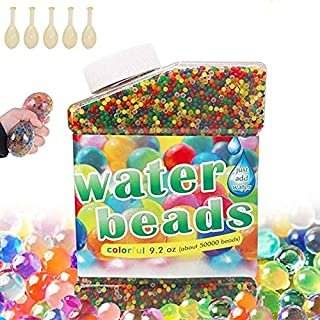 50,000 PCS Bolas De Gel De Agua Colores .Perlas de Gel para decoración .Flores.Plantas.Mezclados cristalino Hidrogel Bolas...