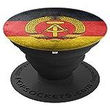 DDR-Flagge - Ostdeutschland Mauer-Jubiläum - PopSockets Ausziehbarer Sockel und Griff für Smartphones und Tablets