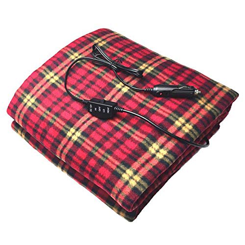 DXDUI Electric Heating Blanket Warm Fast Heating Washable 12V Temperature Adjustment Super Soft, for Home Car Bed and Sofa(59.05 * 39.3 Inch),a