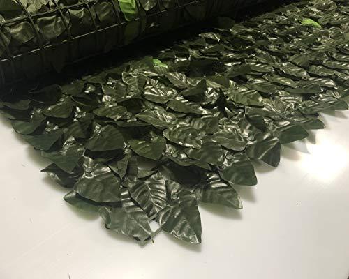 eacommerce Siepe Artificiale Ornamentale a Foglie di Edera per Recinzioni,Terrazze, Giardini e Balconi (H: 1,5x3 MT)