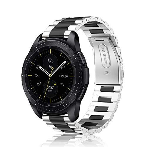 FINTIE Correa Compatible con Samsung Galaxy Watch 3 (41mm)/Galaxy Watch Active2/Active/Galaxy Watch 42mm/Gear Sport/Gear S2 Classic - Pulsera de Repuesto de Acero Inoxidable,