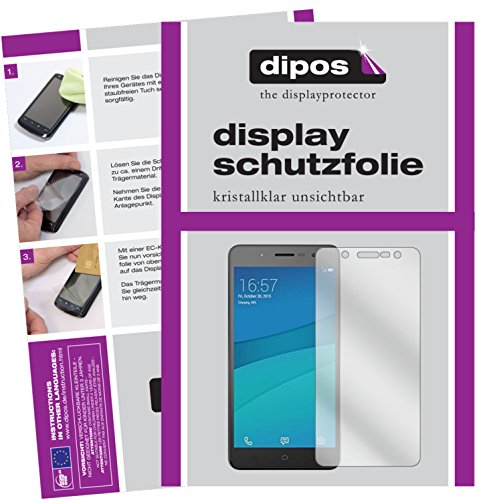 dipos I 2X Schutzfolie klar kompatibel mit Hisense L695 Folie Bildschirmschutzfolie