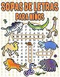 Sopas de Letras para Niños: Animales 72 Rompecabezas Para Niños...
