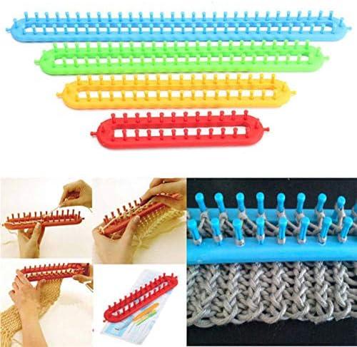 CHXIHome 4 Size Loom Knitting Knitter Kit Plastic Pompom Sock Hat Scarf Scarves Maker Hat Sock product image