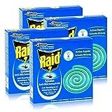 Raid Anti-Mückenspirale 10 Spiralen - Gegen Mücken und Tigermücken (4er Pack)