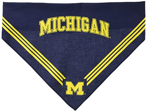 Collegiate Michigan Wolverines Pet Bandana, Medium/Large - Dog Bandana must-have for Birthdays, Parties, Sports Games etc..