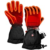 The Warming Store ActionHeat 5V Rechargeable Battery Heated Gloves for Men, Waterproof Insulated Ski Gloves, Hunting Gloves, Heats Up to 145F, Medium