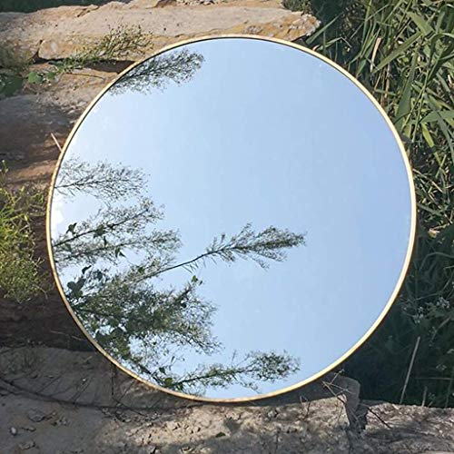 WCZZ Espejo redondo Mueble de baño con borde Baño de pared Lavabo...