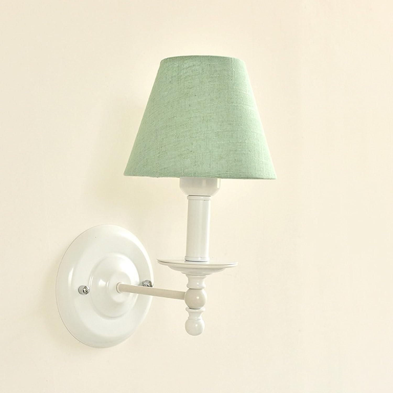 SPFOZ Nordeuropa-amerikanische Art-einfache Wand-Lampen-Nachttisch Schlafzimmer-Gang-europische Originalitt-Moderne Balkon-Wohnzimmer-Tuch-Wand-Lampe (Farbe    2)
