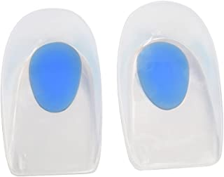 Silicone Gel Heel Cups Heel Cushion Pain Relief Heel Pads for Plantar Fasciitis & Bone spur, Medical Grade Silicone Material, Unisex. 3 Size (M(38 41))