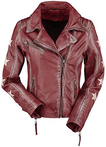 Gipsy Cady Latrev Frauen Lederjacke rot M 100% Leder Basics, Biker, Casual Wear