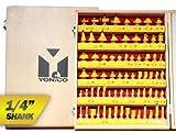 Yonico Router Bits Set 70 Bit 1/4-Inch Shank 17702q