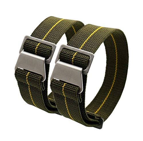 Uhrenarmband, 20 mm, olivgrün, französische Marine Nationale Militär, NATO®